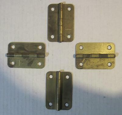 Lot of 4 Salvaged Gold-Tone Hinges (87)