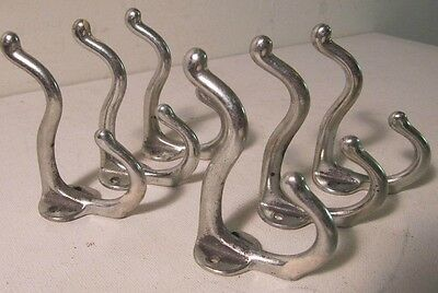 Vintage Antique Style Double Coat Robe Wall Hook Lot of 6