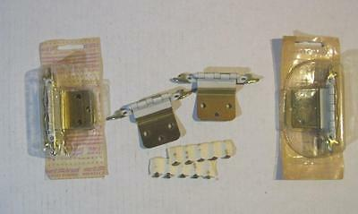 "Lot of 6 NOS French Hinges White/Gold For 3/8"" Inset Overlapping Doors (68)"