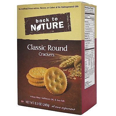 Crackers- Classic Round- 8.5oz Back To Nature
