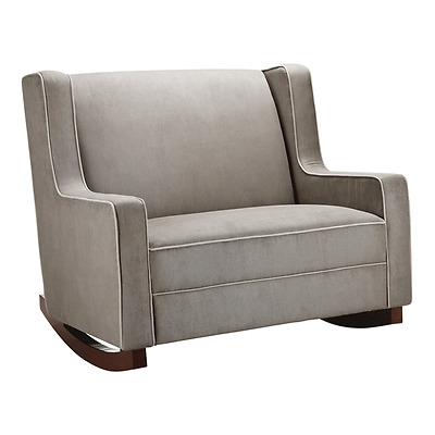 Baby Relax Hadley Double Rocker chair - Dark Taupe Baby Rocking chair