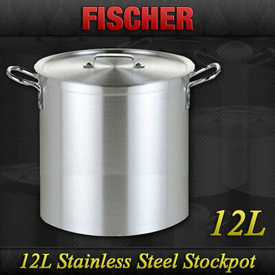 """brand New"" 12L Commercial 18/10 Stainless Steel Stock Pot Cookware Sp-12"