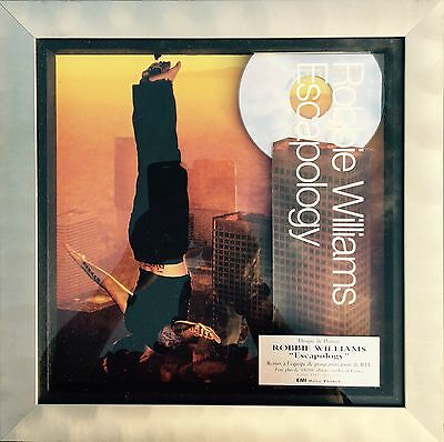 48h: ROBBIE WILLIAMS Mega Rare French Platinum Award ESCAPOLOGY Certified Snep