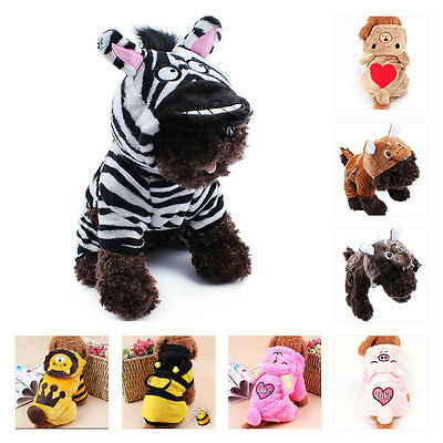 Small Pet Dog Winter Clothes Puppy Cat Warm Sweater Hoodie Coat Costume Apparel
