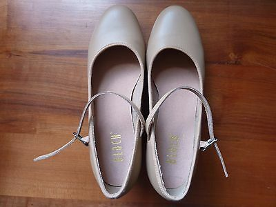 Bloch Womens Leather Tan Techno Tap Shoes Size 10.5