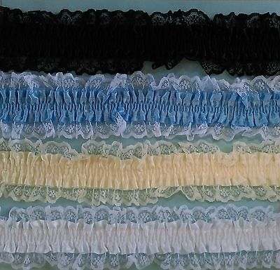Garter Lace ~ Half Metre Piece ~  Choose from 5 colours