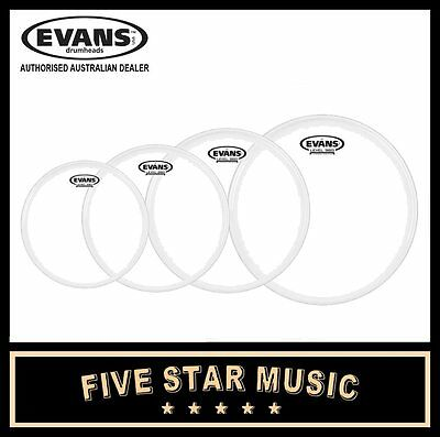 "Evans G1 Clear 4 Pce Drum Skin Tom Pack Set 10"" 12"" 14"" 16"" Heads"