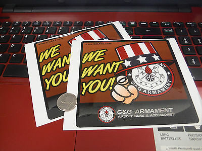 G&G Airsoft Decal - G&G We Want You 5x5
