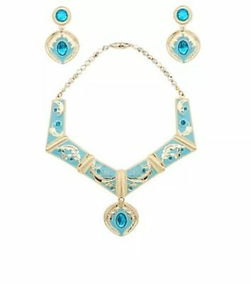 NEW - Disney Store Princess Pocahontas Necklace & Earrings Jewelry Costume Set