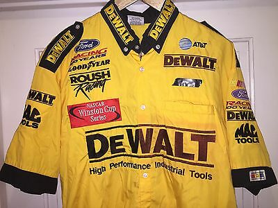 XL Winston Cup Series Roush Racing Nascar Pit Crew Shirt Ford Dewalt Old Team