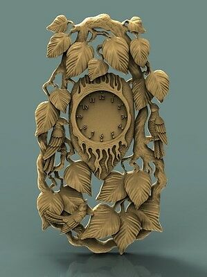 3D Stl Model Relief Artcam Cnc Decor Watch With Leaves High Quality
