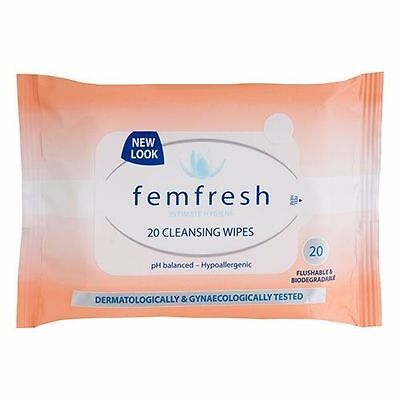 Femfresh Feminine Cleansing Wipes Ph Balanced Hypoallergenic 20 Pk
