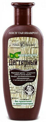 Organic Tar Birch Bark Ecological Shampoo Anti-Dandruff Antiseptic 250ml