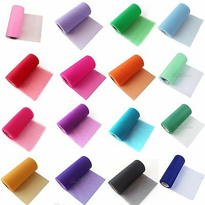 """6""""x25Yds Tulle Roll Spool Tutu Wedding Party Gift Bows Craft Banquet Supplies"""