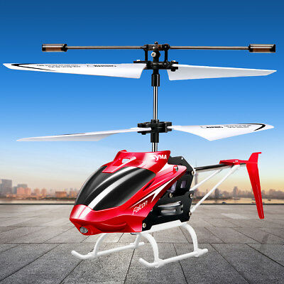 2 Channel Remote Control Mini RC Helicopter Syma W25 Gyro Anti Shock Red Color