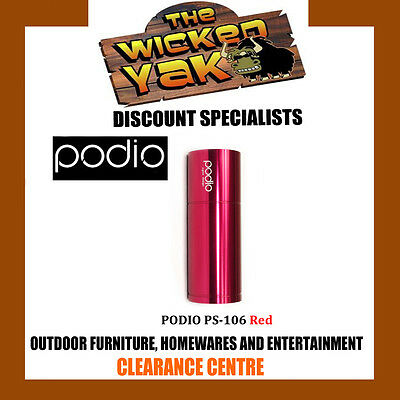 Podio Sports Active Speaker for iPhone/iPod/MP3/Notebook PS-106 RED-NEW!