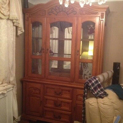 Lovely Solid Wood Display Cabinet