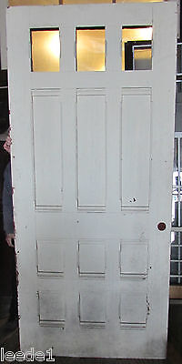 "Late 1800's Pine Door 9 Panel 7'5""' x 40-3/4"" x 1-3/4 Architectural Salvage"