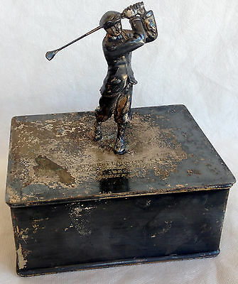 RARE Antique 1932 Brentwood Country Club Championship Figure Of Golfer Trophy