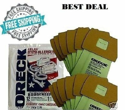 12 Bags B Genuine Oreck Xl Buster Canister Vacuum Pkbb12dw 12 Pack Housekeeper