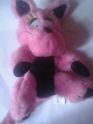 Small pink cat soft toy