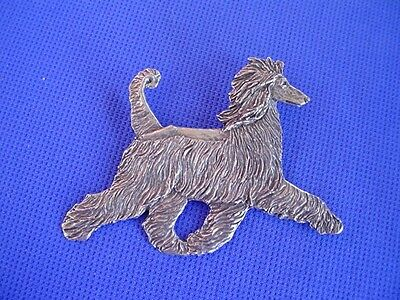 Afghan Hound Pin TROTTING pewter #32A Show Dog Jewelry by Cindy A. Conter