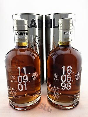 Bruichladdich Ancien Regime & Renaissance Single Malt Scotch Whisky Bottles.
