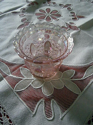 Imperial Lenox Iridescent Pink Candy Dish Scalloped Edge