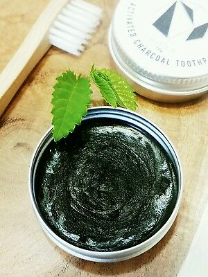 Toothpaste 100% ORGANIC Natural Travel size Vegan skincare Activated CHARCOAL