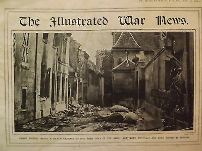 Two Vintage Copies Of The Illustrated War News Wwi Magazine Sept 9 And 23 1914