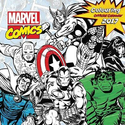 Marvel Colouring In Official Calendar 2017
