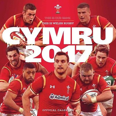 Welsh Rugby Union Official Calendar 2017 Square Wall Wales WRU