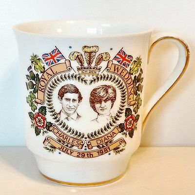 Royal Wedding Charles And Diana Commemorative Cup Hammersley Bone China