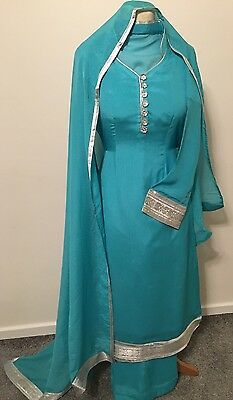 Shalwar kameez Chiffon Material. 3 Piece Suit Stitched. New