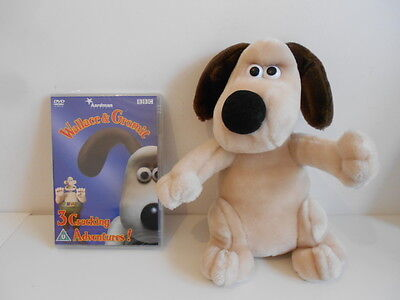 """Wallace & Gromit - 10"""" Gromit Soft Toy + New Sealed Dvd"""