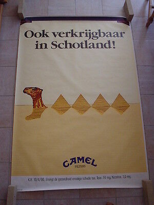 "Camel  official RJR Belgium '92 - ""On sale also in Scotland "" 120 x 175"