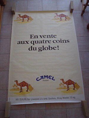 "Camel  official RJR Belgium '92 - ""On sale in 4 corners of the globe"" 120 x 175"