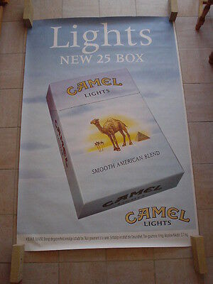 Camel  official RJR Belgium '96 - big poster - Lights Blue 25box - 120 x 175