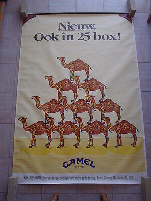 "Camel official RJR Belgium '92 - "" New. Also in 25 box"" -  120 x 175"