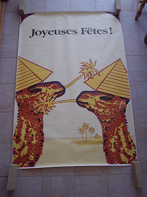 "Camel official RJR Belgium '92 - big poster - ""Merry christmas"" - 120 x 175"