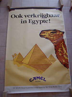"Camel official RJR Belgium '92 - big poster - ""On sale also in Egypt "" 120 x 175"