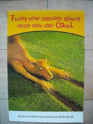 "Camel poster - ""Funny how someone always takes your last Camel"""