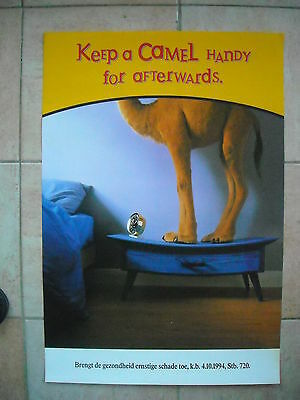 "Camel poster - ""Keep a Camel handy for afterwards"""
