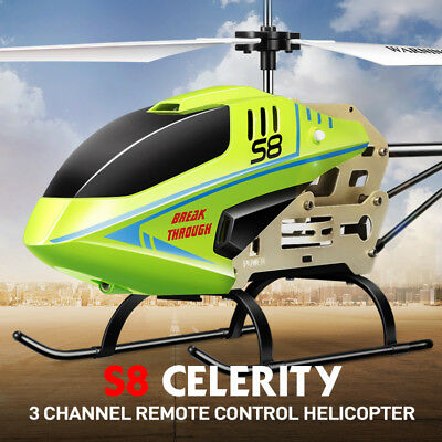 **GENUINE** Syma S8 3 Channel RC Helicopter Gyro Remote Control Black Colour