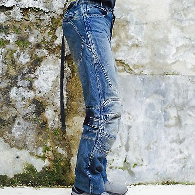 Jeans 100% Coton Moto Protections genoux CE Homme taille 40