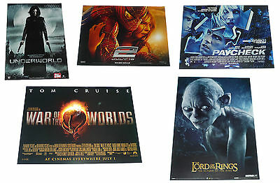 Lot of 5 Sci-Fi Film Posters 30x40 Spiderman Underworld Lord Rings Paycheck