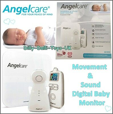 NEW Angelcare AC403 Movement & Sound Digital Baby Monitor With Sensor Pad