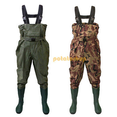 Carp Fishing Chest Waders With Belt *All Sizes* Nylon PVC Waterproof Fly Coarse