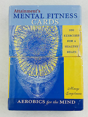 Attainments Mental Fitness Cards 2004 100 Exercises For A Healthy Brain Used