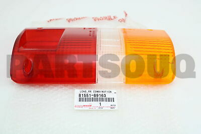 8155189163 Genuine Toyota LENS, REAR COMBINATION LAMP, RH 81551-89163
